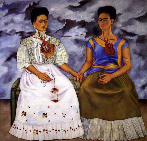 The Two Fridas,1939 by Frida Kahlo. Oil on canvas.
