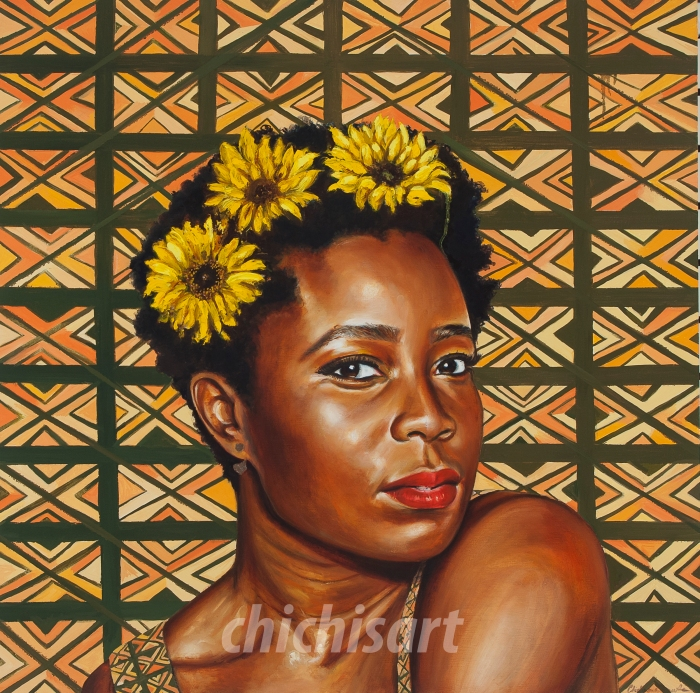 Chidinma Dureke Self-Portrait, Oil on Canvas 2013