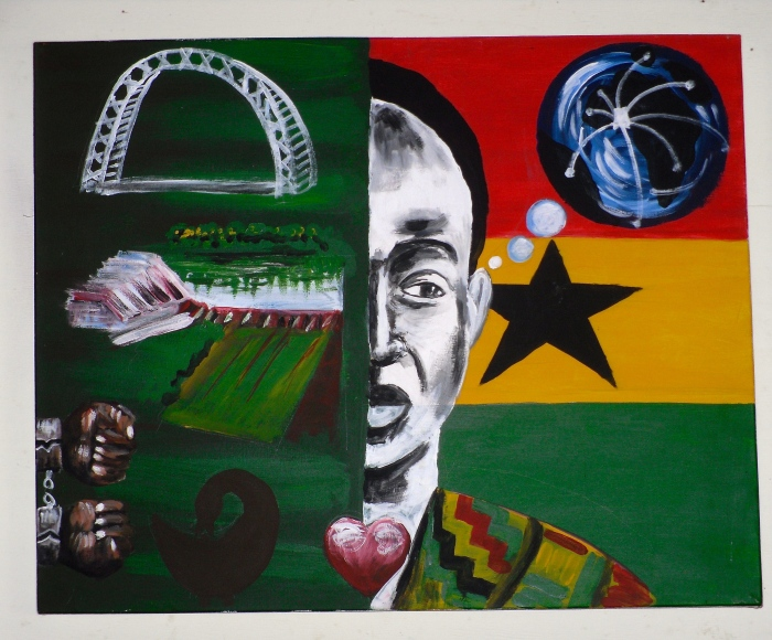 Some more artwork of Nkrumah at the W.E.B Dubois Memorial Centre for Pan-African Culture.