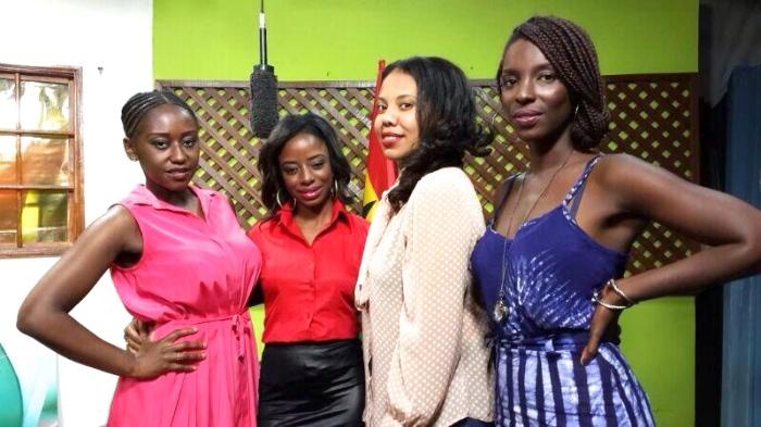 (l to right)Nana Mensah, ETV Ghana E News host Vanessa Gyan, An African City creator Nicole Amarteifio and Maame Adjei