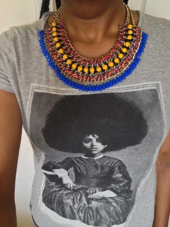Zara necklace & shirt