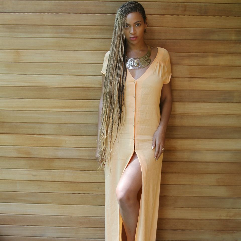Beyonce with Box Braids