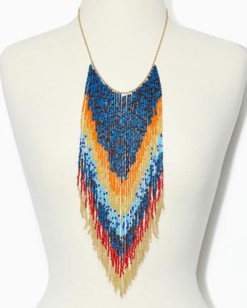 Charming Charlie Beaded Fringe Necklace
