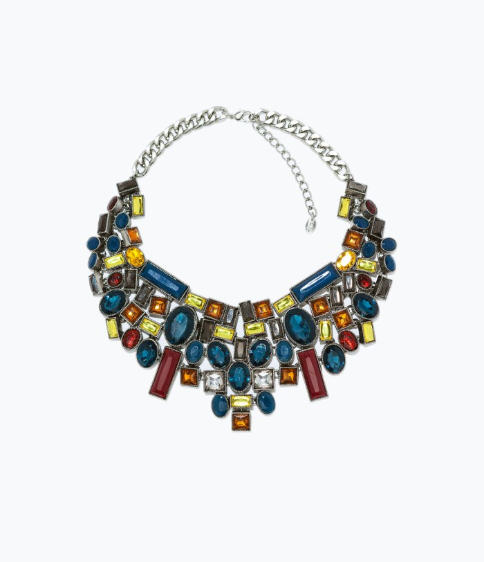 Necklace with Geometric Rhinestones