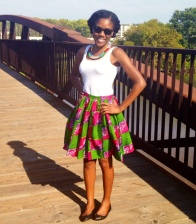 I got a cute African Print skirt