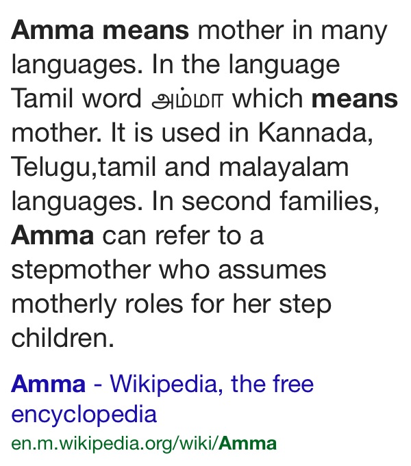 Amma-mother