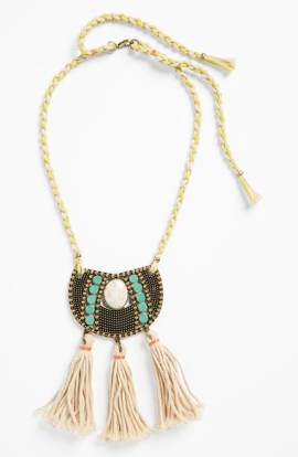 MISSING PIECE Tassel Rope Statement Necklace