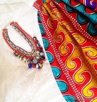 Zara necklace x skirt from Ghana