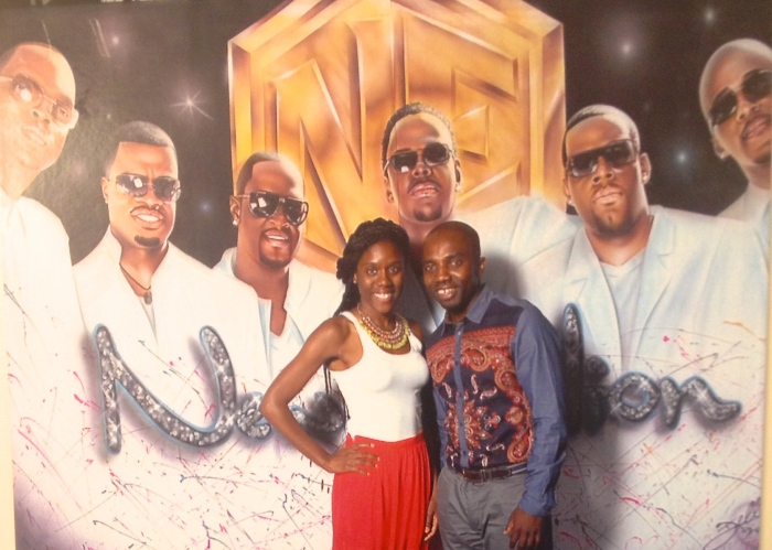 Kofi and I kicking it with New Edition this past summer.