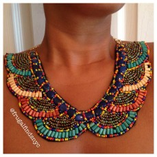 Vibrant Boho Collar Necklace II $16.99
