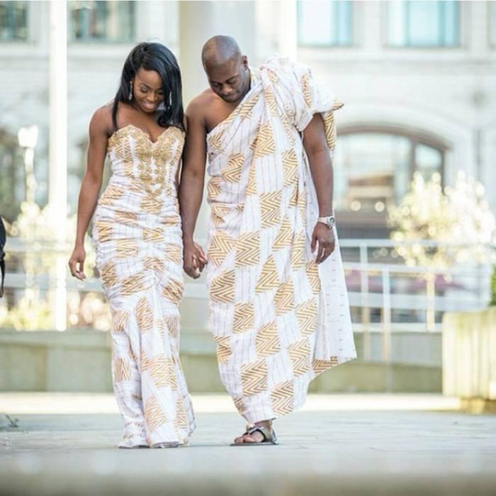 i do ghana-white and gold kente