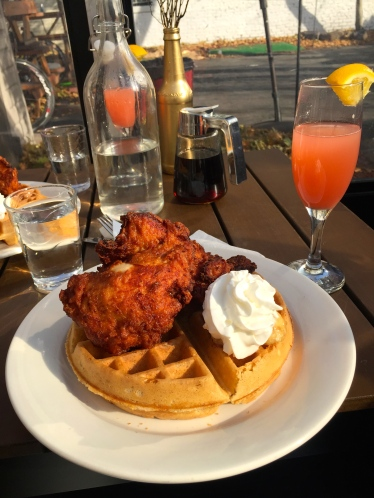 Chicken N Waffles at Mango Seed