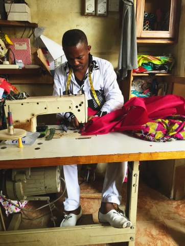 One of my seamstresses in Kumasi